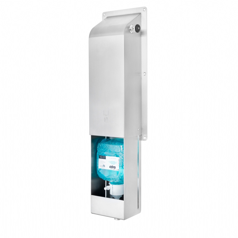 Wall mounted manual SS304 soap dispenser