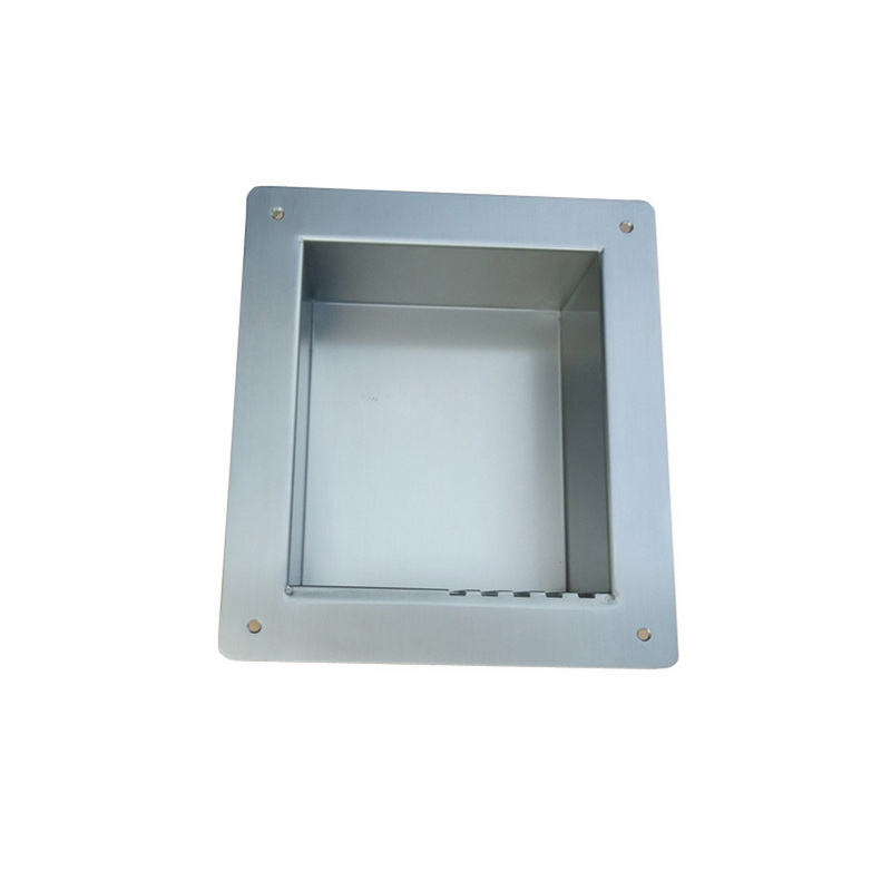 recessed washroom soap shelf