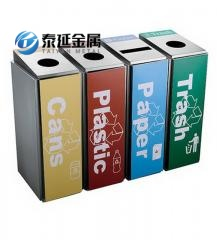 Promotional Indoor Stainless Steel Classification Garbage Cans