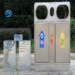 Promotional Stainless Steel Trash Classification Garbage Cans