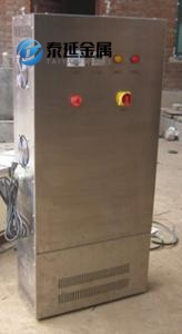 Stainless steel distribution panel cabinets with hinges