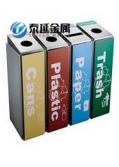 OEM Indoor Stainless Steel Classification Garbage Cans