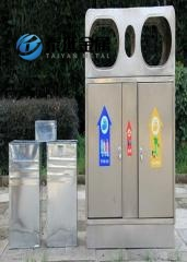 Stainless Steel Trash Classification Garbage Cans supplier