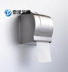 Roll holder dispenser tissue box
