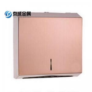 Hole free design toilet towel dispenser